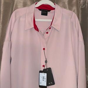 NEW Armani Exchange button down blouse